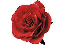 Gothic Red Flower Hair Clip