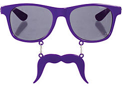 Purple Handlebar Sun-Staches