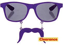 Purple Handlebar Sun-Staches