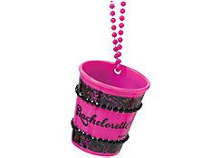 Pink Bachelorette Shot Glass Necklace - Sassy Bride