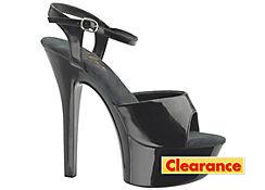 Black Open-Toe Platform Shoes