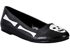 Child Skull & Crossbones Flat Shoes