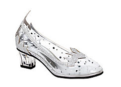 Child Ice Princess Silver High Heel Shoes