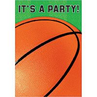 quick shop basketball invitations 8ct - Basketball Party Invitations
