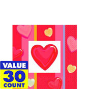 Candy Hearts Valentines Day Beverage Napkins 30ct