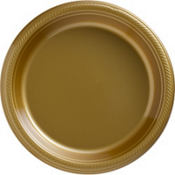 Gold Plastic Dinner Plates 20ct