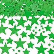 Metallic Green Star Confetti
