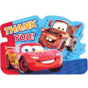 Cars 2 Thank You Notes 8ct