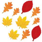 Glitter Autumn Leaves Cutouts 10ct