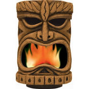 Flaming Tiki Head Decoration 13in