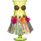 Tiki Time Plastic Hurricane Glass 22oz