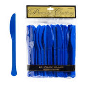 Royal Blue Premium Plastic Knives 48ct
