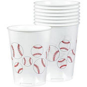 Baseball Fan Plastic Cups 8ct