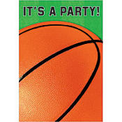 Basketball Fan Folded Invitations 8ct