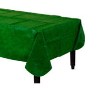Grass Print Flannel-Backed Table Cover 90in x 52in