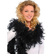 Black Feather Boa 72in