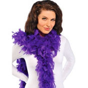 Purple Feather Boa 72in