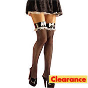 Adult French Maid Thigh High Stockings