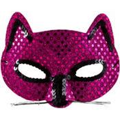 Metallic Pink Cat Mask
