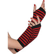 Black and Red Striped Arm Warmers