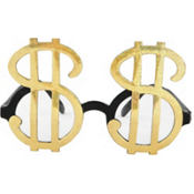 Gold Money Glasses