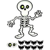 Pin the Smile on the Skeleton Game