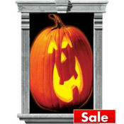 Pumpkin Window Magic Decorations 33 1/2in x 65in 2ct