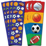 Sports Metallic Stickers 8 Sheets