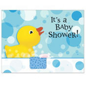 Splish Splash Baby Shower Invitations 8ct