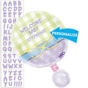 Foil Baby Rattle Personalized Baby Shower Balloon 18in