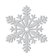 Silver Glitter Snowflake Hanging Decoration 11in