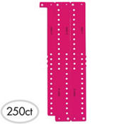 Neon Pink Plastic Wristbands 250ct
