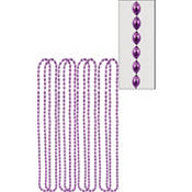 Purple Bead Necklaces 32in 8ct