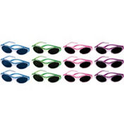 Metallic Oval Sunglasses 12ct