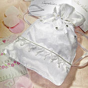 White Wedding Money Bag