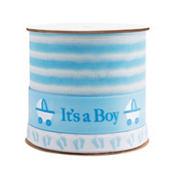 Blue Baby Shower Three Ribbon Spool