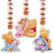 Pooh Baby Days Dangling Cutouts 32in 3ct