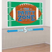 Giant Football Party Sign 75in