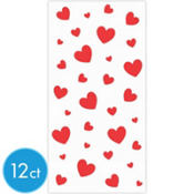 Red Hearts Paper Treat Bags 12ct