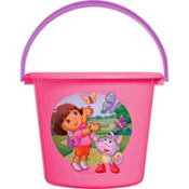 Plastic Dora The Explorer Easter Bucket 7 1/2in