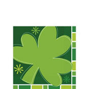 Spring Clover St. Patricks Day Beverage Napkins 16ct