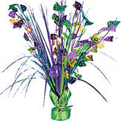 Foil Spray Mardi Gras Centerpiece 18in