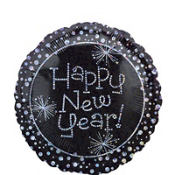 Foil Sparkling Happy New Year Balloon 18in