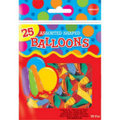 Assorted Shaped Latex Balloons 25ct