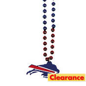Buffalo Bills Bead Necklace 36in