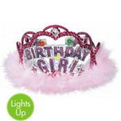 Birthday Girl Flashing Lights Tiara