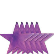 Purple Star Cutouts 9in 5ct