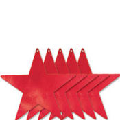 Red Star Cutouts 9in 5ct