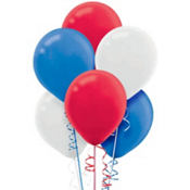 Red, White & Blue Latex Balloons 12in 72ct