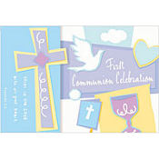 Celebration Communion Invitations 8ct